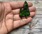 Mini Tree  -Glass Mosaic Magnet