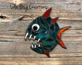 Feisty Angler Fish glass mosaic