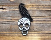Raven on a Skull Mosaic