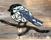 Chickadee glass Mosaic