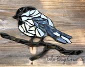 Chickadee glass Mosaic