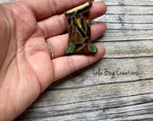 Mini Outhouse - Glass Mosaic Magnet