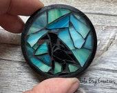 Raven Mosaic Glass Magnet