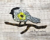 Chickadee with Sunflower Mosaic