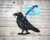 Perched Raven Glass Mosaic