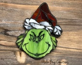 Grinch With Christmas Hat Mosaic