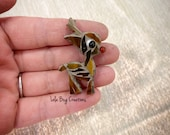 Mini Baby Rudolph  -Glass Mosaic Magnet