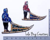 Dog Musher Mosaic || glass mosaic art