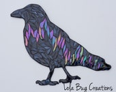 Northern Lights Raven Glass Mosaic