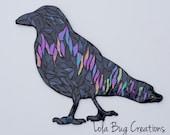 Northern Lights Raven Glass Mosaic