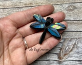 Mini Dragonfly   -Glass Mosaic Magnet
