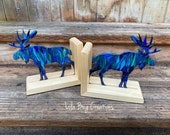 Northern Lights Moose bookend