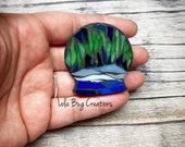 Mini Snow Globe - Glass Mosaic Magnet