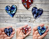 Mini Heart -Glass Mosaic Magnet