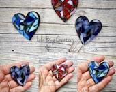 Mini Heart -Glass Mosaic Magnet