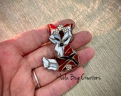 Mini Fox with flower crown   -Glass Mosaic Magnet