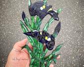 Wild Iris glass Mosaic
