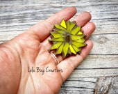 Mini Sunflower  -Glass Mosaic Magnet