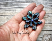Mini Snowflake  -Glass Mosaic Magnet