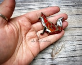 Mini Red Fox  -Glass Mosaic Magnet