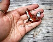 Mini Red Fox  -Glass Mosaic Magnet