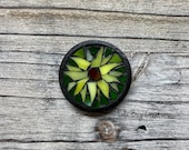 Sunflower Mosaic Glass Magnet