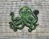 Octopus glass Mosaic
