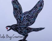 Flying Raven glass Mosaic