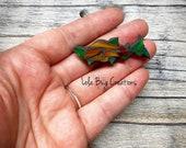 Mini Salmon- Glass Mosaic Magnet