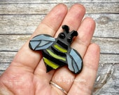 Mini Bee  -Glass Mosaic Magnet