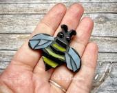 Mini Bee  -Glass Mosaic Magnet