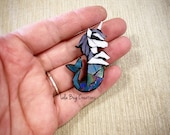 Mini Unicorn Mermaid  -Glass Mosaic Magnet