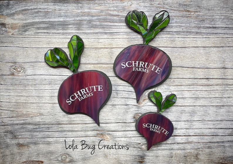 Schrute Farms Beet Glass Mosaic image 0