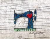 Sewing Machine glass Mosaic