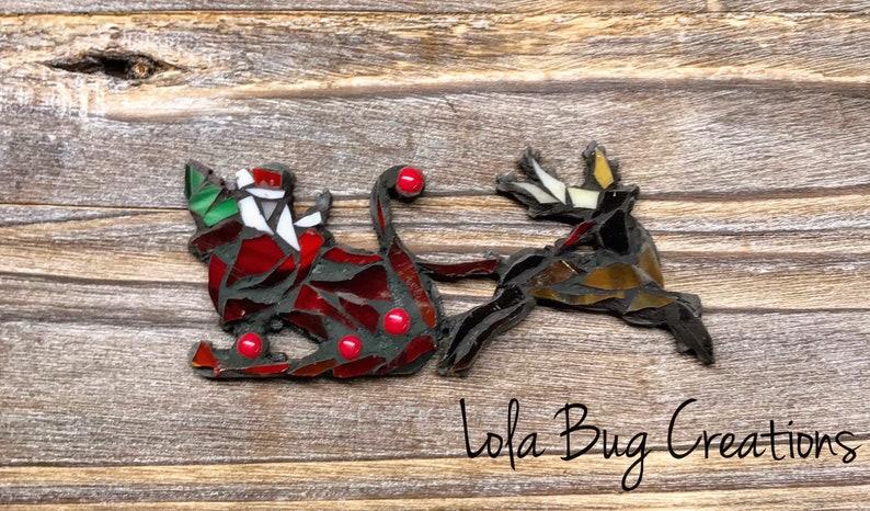 Santa and a Reigndeer glass mosaic image 0