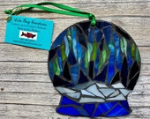 Northern Lights Snow globe Glass Mosaic