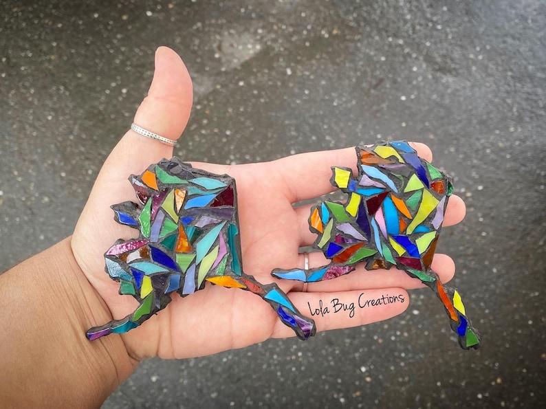 Multi Color State of Alaska glass Mosaic image 0
