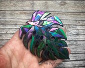 Monstera Glass Mosaic