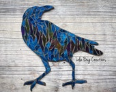 Northern Lights Sassy Raven glass Mosaic