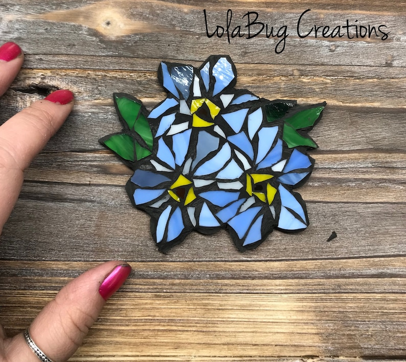Forget-me-not Glass Mosaic image 0