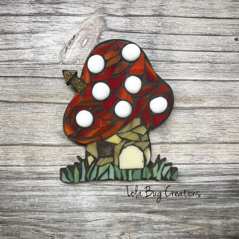 Mushroom House glass Mosaic image 0