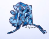 Colorful State Of Alaska glass Mosaic