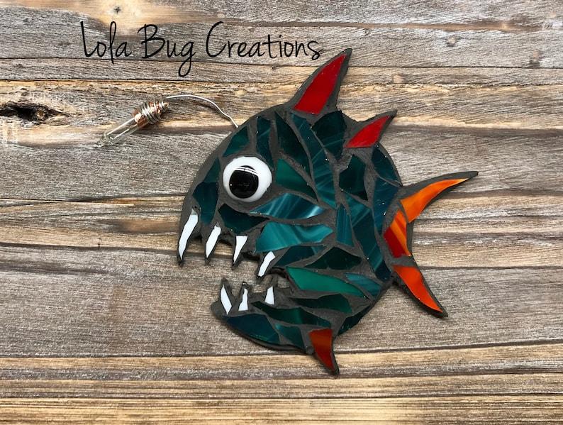 Feisty Angler Fish glass mosaic image 0