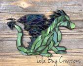 Dragon glass mosaic