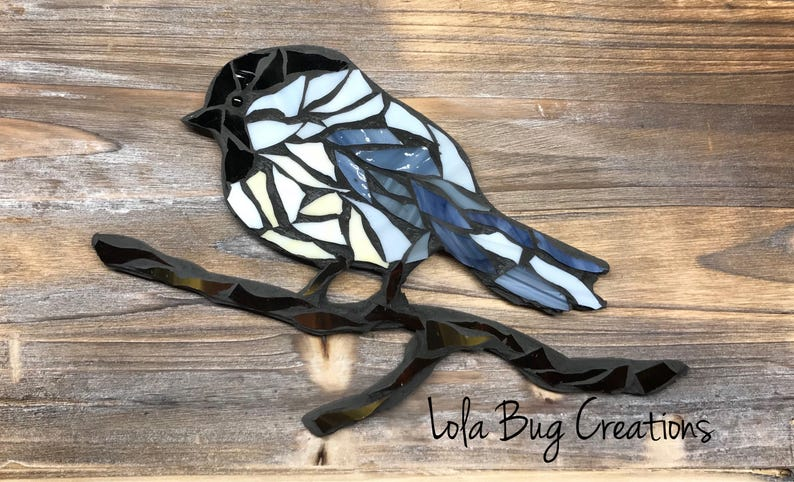 Chickadee glass Mosaic image 0