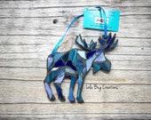 Multi Blue Colored Moose glass Mosaic