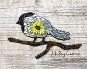 Chickadee with Sunflower Mosaic