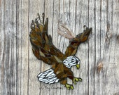 Bald Eagle glass Mosaic