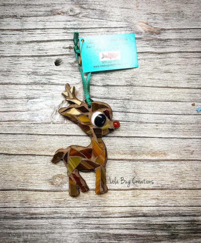 Baby Rudolf Reindeer Mosaic image 0
