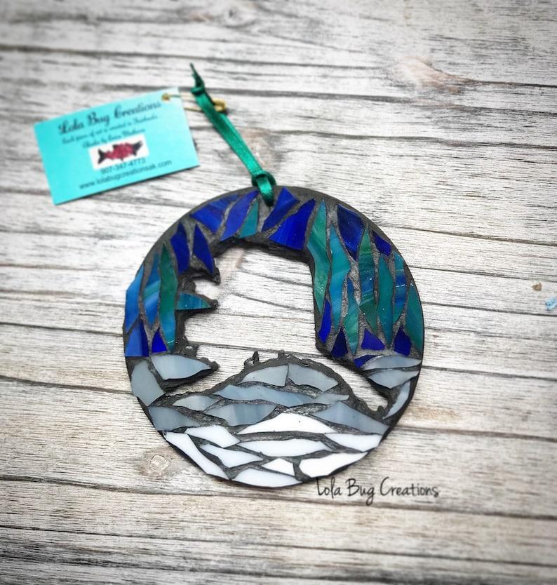 State of Alaska Northern Lights glass Mosaic image 0